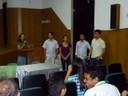 Parte da comissão de organização do evento