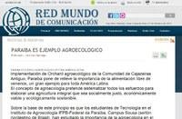 Projeto de alunos do curso de Agroecologia é destaque em rede latina de comunicação