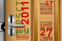 As inscrições do PSCT-2011 vão até dia 5 de novembro