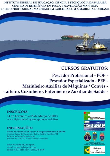 CRPNM oferta cursos em parceria com a Marinha do Brasil