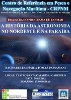Palestra sobre Astronomia será ministrada para o CRPNM