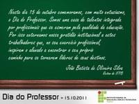 Homenagem ao Dia dos Professores