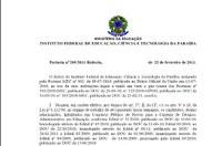 IFPB nomeia 25 técnico-administrativos