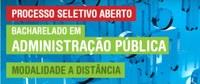 Inscrições abertas para Bacharelado em Administração Pública pela EAD