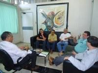 Membros do Nepa e APA destacam novos projetos para o reitor