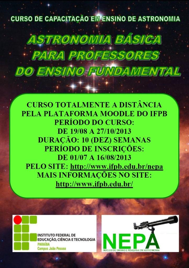 Nepa abre inscrições para curso de Astronomia Básica