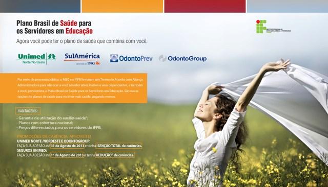 Plano Brasil Saúde: consultores estarão nos campi do IFPB para esclarecimentos de dúvidas