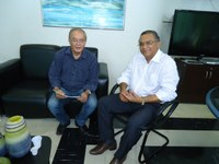 Reitor João Batista recebe visita de Marcondes Gadelha