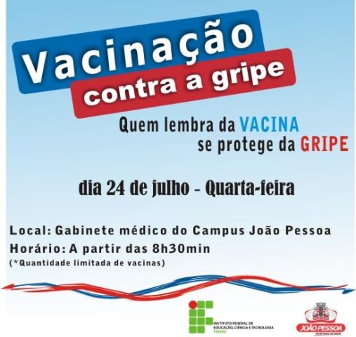Vacinação contra a gripe para servidores no Campus João Pessoa
